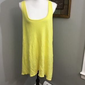 Zara Yellow Linen Sundress Sz M